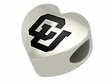 Colorado Buffaloes Heart Shape Bead