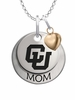 Colorado Buffaloes MOM Necklace with Heart Charm