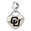 Colorado Buffaloes Heart Dangle Charm
