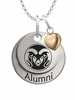 Colorado State Rams Alumni Necklace with Heart Accent