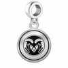 Colorado State Rams Border Round Dangle Charm