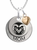 Colorado State Rams MOM Necklace with Heart Charm