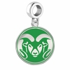 Colorado State Rams Silver Logo and School Color Drop Charm
