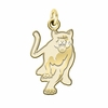 Columbus State Cougars 14K Yellow Gold Natural Finish Cut Out Logo Charm