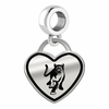 Columbus State Cougars Border Heart Dangle Charm