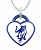 Columbus State Cougars Logo Heart Pendant With Color