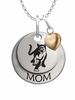 Columbus State Cougars MOM Necklace with Heart Charm