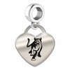 Columbus State Engraved Heart Dangle Charm