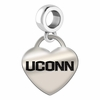Connecticut Engraved Heart Dangle Charm