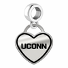 Connecticut Huskies Border Heart Dangle Charm