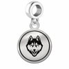 Connecticut Huskies Border Round Dangle Charm