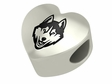 Connecticut Huskies Heart Shape Bead