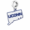 Connecticut Huskies Logo Dangle Charm