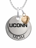 Connecticut Huskies MOM Necklace with Heart Charm