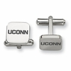 Connecticut Huskies Stainless Steel Cufflinks