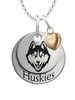 Connecticut Huskies with Heart Accent