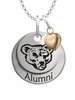 Cornell Big Red Alumni Necklace with Heart Accent