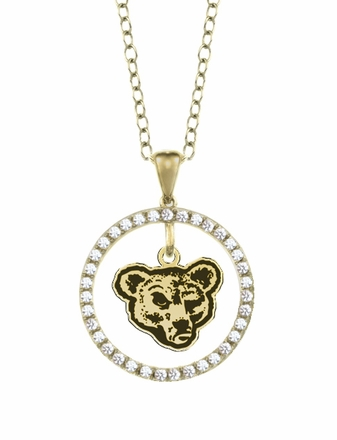 Cornell Big Red Gold and Diamond Circle Pendant