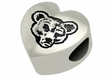 Cornell Big Red Heart Shape Bead