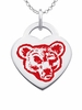 Cornell Big Red Logo Heart Pendant With Color