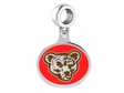 Cornell Big Red Silver Drop Charm
