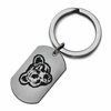 Cornell Big Red Stainless Steel Key Ring