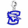 Creighton Blue Jays Silver Logo and School Color Drop Charm