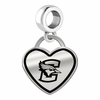 Creighton Bluejays Border Heart Dangle Charm