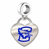 Creighton Bluejays Color Heart Dangle