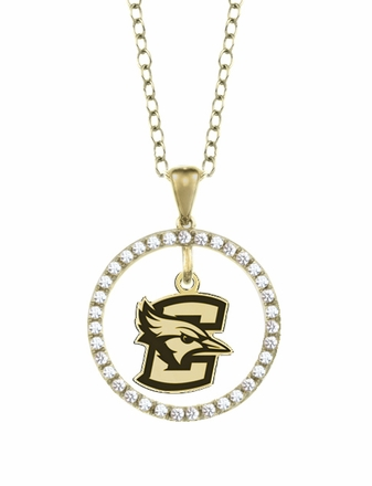 Creighton Bluejays Gold and Diamond Circle Pendant
