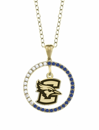 Creighton Bluejays Sapphire and Diamond Necklace