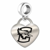 Creighton Engraved Heart Dangle Charm