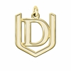 Davenport Panthers 14K Yellow Gold Natural Finish Cut Out Logo Charm