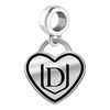 Davenport Panthers Border Heart Dangle Charm