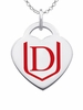 Davenport Panthers Logo Heart Pendant With Color