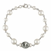 Davenport Panthers Oval Tin Cup Cultured Freshwater Pearl Bracelet