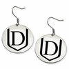 Davenport Panthers Satin Finished Disc Earrings