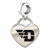 Dayton Engraved Heart Dangle Charm