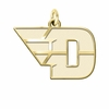 Dayton Flyers 14K Yellow Gold Natural Finish Cut Out Logo Charm