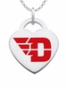 Dayton Flyers Color Logo Heart Charm