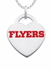 Dayton Flyers Logo Heart Pendant With Color