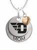 Dayton Flyers MOM Necklace with Heart Charm