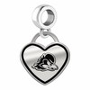 Delaware Blue Hens Border Heart Dangle Charm