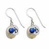 Delaware Blue Hens Color and Freshwater Pearl Earrings