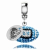 Delaware Blue Hens Crystal Drop Charm