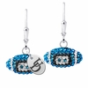 Delaware Hens Crystal Football Earrings