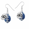 Delaware Blue Hens Crystal Football Earrings