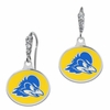 Delaware Blue Hens Enamel CZ Cluster Earrings