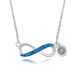 Delaware Blue Hens Infinity Necklace