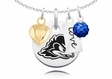 Delaware Blue Hens Necklace With Heart, Color and Love